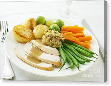Roast Chicken Dinner Canvas Print by Colin and Linda McKie