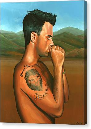 Robbie Williams Angels Painting Canvas Print by Paul Meijering