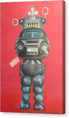 Robby The Robot Canvas Print by Karen Stitt