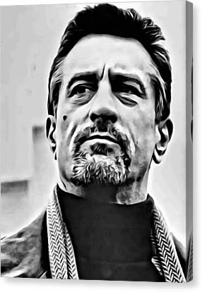 Robert De Niro Portrait Canvas Print by Florian Rodarte