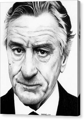 Robert De Niro Canvas Print by Rick Fortson