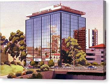 Robert F Driver Building Canvas Print by Mary Helmreich