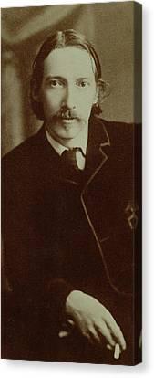 Robert Louis Stevenson Canvas Print by English School