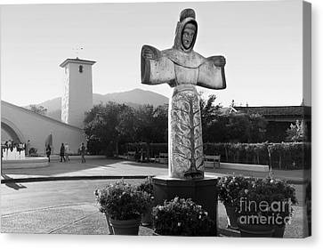 Robert Mondavi Napa Valley Winery . Black And White . 7d9046 Canvas Print by Wingsdomain Art and Photography