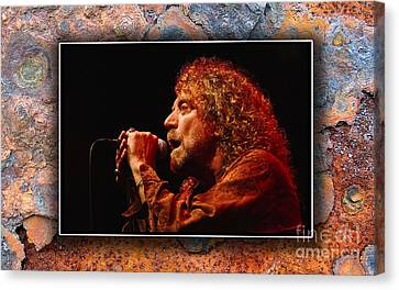 Robert Plant Art Canvas Print by Marvin Blaine
