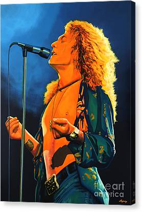 Robert Plant Canvas Print by Paul Meijering