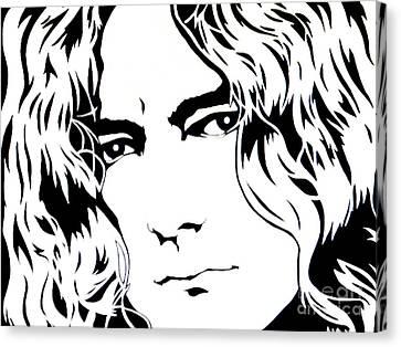Robert Plant Canvas Print by Ryszard Sleczka