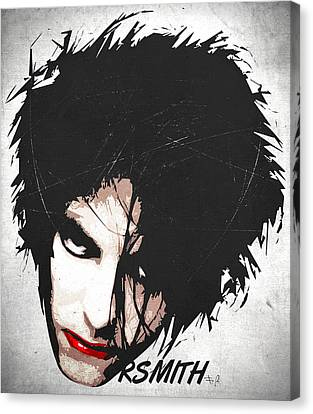 Robert Smith Canvas Print by Filippo B