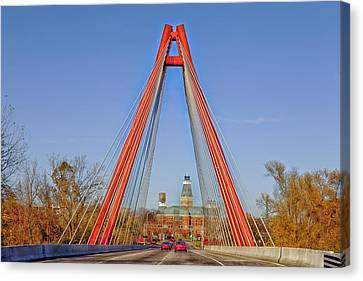 Robert Stewart Bridge - Columbus Indiana Canvas Print by Mountain Dreams
