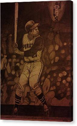 Roberto Clemente Canvas Print by Christy Saunders Church
