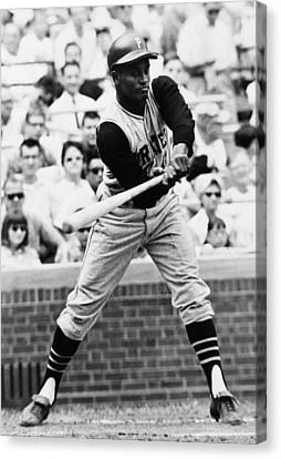 Roberto Clemente Pirates Great Baseball Player Canvas Print by Retro Images Archive