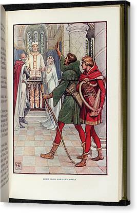 Robin Hood And Alan-a-dale Canvas Print by British Library