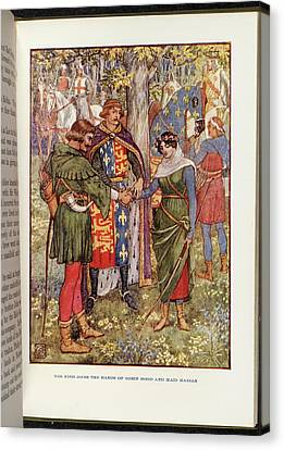Robin Hood And Maid Marian Canvas Print by British Library
