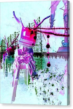 Robo Reindeer Canvas Print by Randall Weidner
