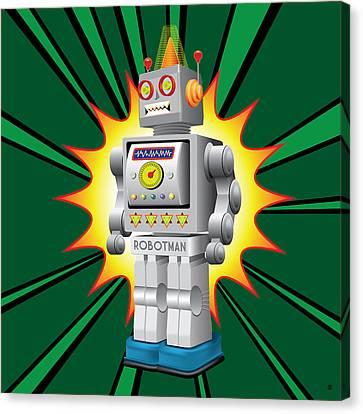 Robotman Canvas Print by Gary Grayson