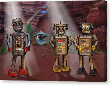 Robots With Attitudes  Canvas Print by Mike McGlothlen