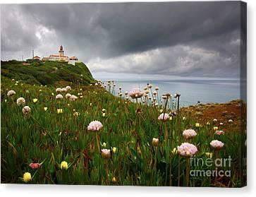 Roca Lighthouse Canvas Print by Carlos Caetano