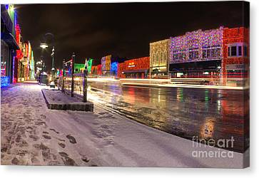 Rochester Michigan Christmas Light Display Canvas Print by Twenty Two North Photography