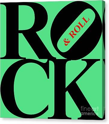 Rock And Roll 20130708 Black Green Red Canvas Print by Wingsdomain Art and Photography