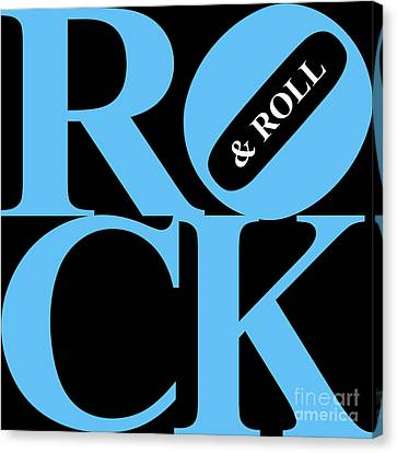 Rock And Roll 20130708 Blue Black White Canvas Print by Wingsdomain Art and Photography
