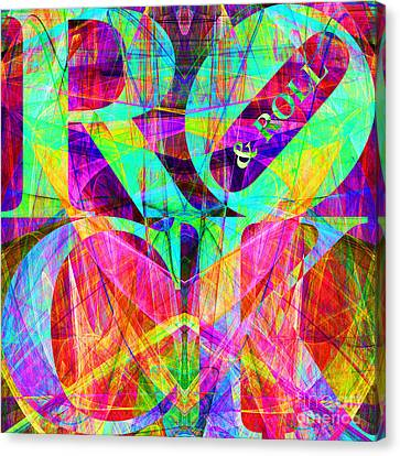 Rock And Roll 20130708 Fractal Canvas Print by Wingsdomain Art and Photography