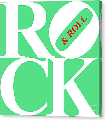 Rock And Roll 20130708 White Green Red Canvas Print by Wingsdomain Art and Photography
