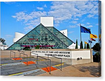 Rock And Roll Hall Of Fame Canvas Print by Frozen in Time Fine Art Photography