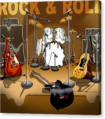 Rock And Roll Meltdown Canvas Print by Mike McGlothlen