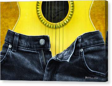 Rock And Roll Woman Canvas Print by Bill Cannon