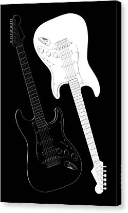 Rock And Roll Yin Yang Canvas Print by Mike McGlothlen