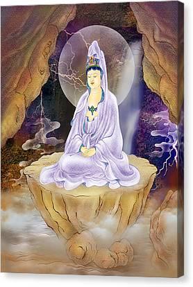 Rock Cave Avalokitesvara  Canvas Print by Lanjee Chee
