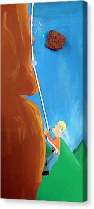Rock Climber Canvas Print by Jera Sky