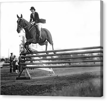 Rock Creek Hunt Club Jumps Canvas Print by Underwood Archives