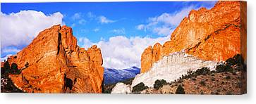 Rock Formations, Garden Of The Gods Canvas Print by Panoramic Images