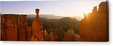 Rock Formations In A Canyon, Thors Canvas Print by Panoramic Images