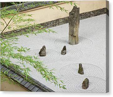 Rock Garden, Portland Japanese Garden Canvas Print by William Sutton