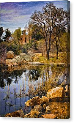 Rock House At Granite Dells Canvas Print by Priscilla Burgers