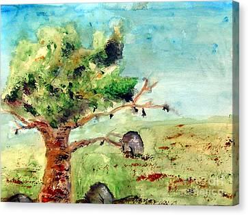 Rock Of Ages Canvas Print by Ayasha Loya Aka Pari  Dominic