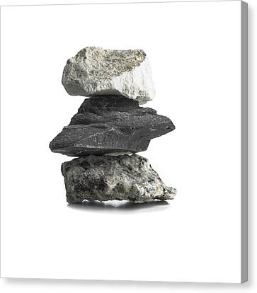 Rock Types Canvas Print by Science Photo Library