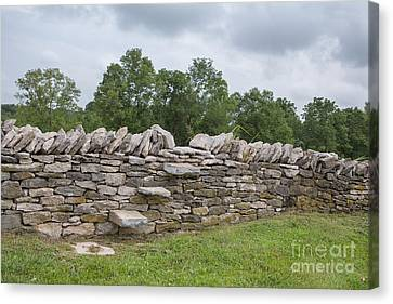 Rock Wall Steps Canvas Print by Kay Pickens