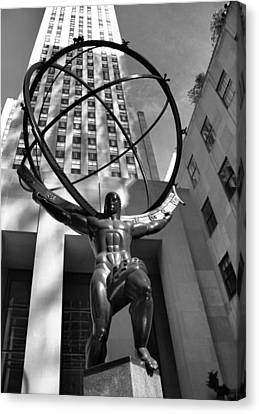Atlas In Black And White Canvas Print by Dan Sproul