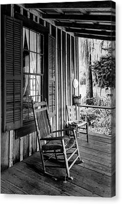 Rocker On The Veranda Canvas Print by Lynn Palmer