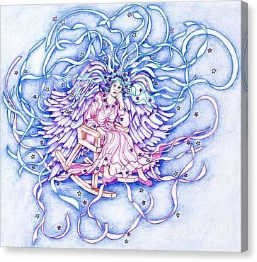 Rocking Angel Canvas Print by Joy Calonico