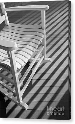Rocking Chair On The Porch Canvas Print by Diane Diederich