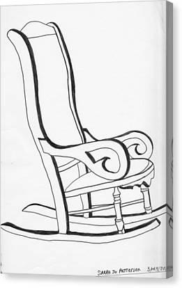 Rocking Chair Canvas Print by Sarah Hamilton