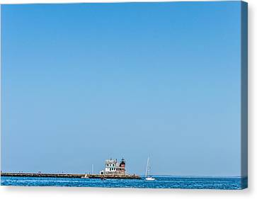 Rockland Breakwater Lighthouse II Canvas Print by Tim Sullivan