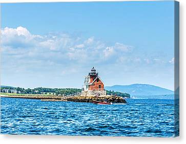 Rockland Breakwater Lighthouse Canvas Print by Tim Sullivan