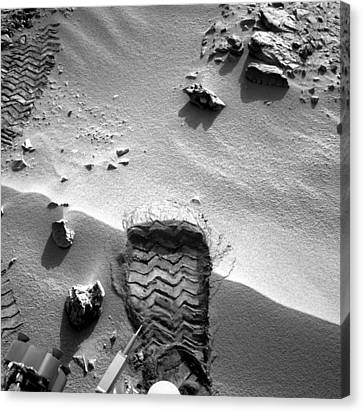 Rocknest Site, Mars, Curiosity Image Canvas Print by Science Photo Library