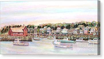 Rockport Harbor Ma Canvas Print by Pamela Parsons