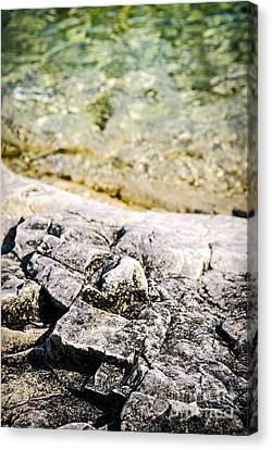 Rocks At Georgian Bay Canvas Print by Elena Elisseeva